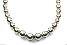 VINTAGE MEXICO GRADUATED BALLS BEADED NECKLACE 925 STERLING Silver 23 in... - $149.99