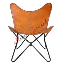 Genuine Leather Chairs Butterfly Handmade Leather Chair AA Butterfly Chair - $220.00