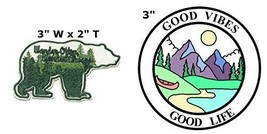 Wander Often Wander Always and Good Vibes Good Life National Park Series 2-Pack  - $7.89