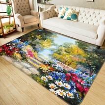 3D Flower Road Paint 023 Non Slip Rug Mat Quality Elegant Photo Carpet US Cobb - $93.49+