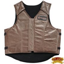 Large Equestrian Horse Riding Vest Safety Protective Hilason Leather U-27-L - $148.95