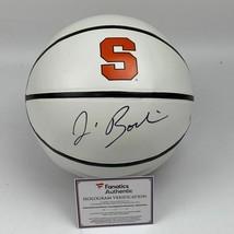 Autographed/Signed JIM BOEHEIM Syracuse Orange Logo Basketball Fanatics ... - $124.99