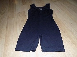 Size Medium 8-10 Jacques Moret Solid Black Dance Unitard Leotard Peace S... - $15.00