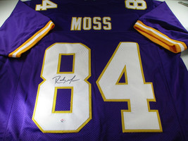 RANDY MOSS / NFL HALL OF FAME / AUTOGRAPHED MINNESOTA VIKINGS CUSTOM JERSEY COA