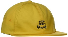Vans x Peanuts Strapback hat Good Grief! Yellow One Size OS Cap - $23.36