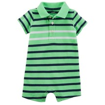 Carter's Baby Boy Striped Polo One-Piece - New Born - $10.77
