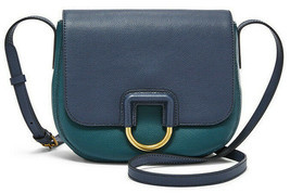 Fossil Stella Crossbody Teal / Dark Navy Leather Bag SHB1960403 NWT MSRP FS - $122.79