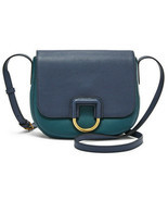 Fossil Stella Crossbody Teal / Dark Navy Leather Bag SHB1960403 NWT MSRP FS - $122.87