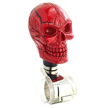 Lunsom Skull Shape Steering Wheel Spinner Resin Driving Power Handle Control Gri