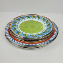 Formation Tuscan Summer Dinner & Salad Plates Enamelware 10 Metal Blue G... - $61.75