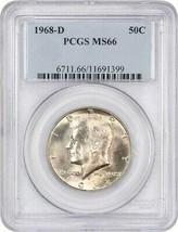 1968-D 50c PCGS MS66 - Kennedy Half Dollar - $67.90