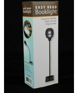 Easy Read Book Light Clip Gooseneck LED Button Battery On Off Shade - $7.49