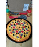Small Play Food World Toys Living My-Oh-My Pizza Pie 11 Pc. Set Playset ... - $30.23