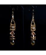 Simulated Diamond Spotlight Luxury Plastic Piece Ear Tear Drop Fine Ston... - $5.99