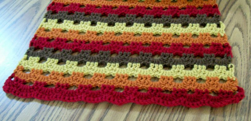 Handmade Crochet Fall Wrap, Prayer Shawl, Accessories, Autumn Scarf, Long, Wide