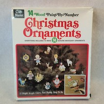 Vintage 1972 Craft Master Paint By Number Chrismtas Ornaments Mahogany 1... - $49.49