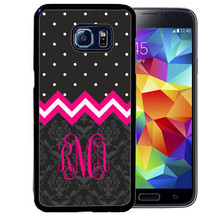 MONOGRAM CASE FOR SAMSUNG S9 S8 S7 S7 S6 PLUS RUBBER COVER GRAY PINK CHE... - $13.95