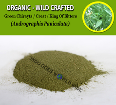 POWDER Green Chirayta Creat King of Bitters Sambiloto Andrographis Panic... - $7.85+