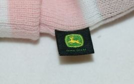 John Deere LP47339 Acrylic Pink Green And White Cuffed Beanie image 5