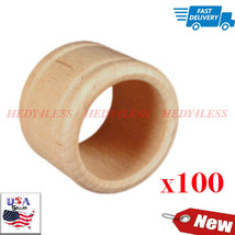 Brand New NR1050-100 Wooden Colonial Napkin Ring Bag of 100 FAST SHIPPING - $38.49