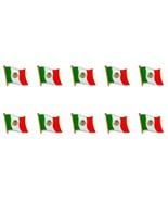 Lote de 10 México Pin Broche Bandera 1.3cm Mexicana Pequeño Boton Sombrero - $12.89