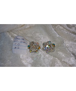 Vintage  crystal earrings So Downton abbey clip on  lot  5 redo - $40.00