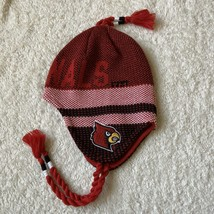 Louisville Cardinals Red Beanie Earflap Hat One Size New Without Tags - $18.80