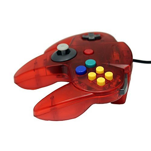 Transparent Red Replacement Controller For N64 By Mars Devices