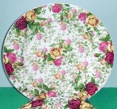 "Royal Albert Country Rose Chintz Dinner Plate 10.75"" New - $29.90"