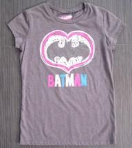 Old Navy Collectabilitees Batman Logo Girl Gray-Pink Tee T-Shirt Size Xl 14 - $5.99