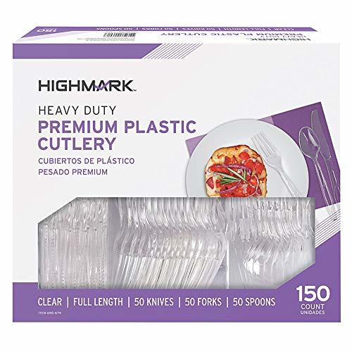 Highmark Office Depot Full Length Utensils, Clear, Pack of 150, 11595