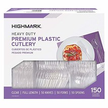 Highmark Office Depot Full Length Utensils, Clear, Pack of 150, 11595 image 1