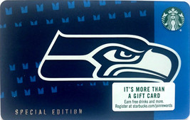 Starbucks 2018 Seattle Seahawks Blue Logo Collectible Gift Card New No V... - $4.99