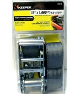 "Keeper 05519 Tie Down Strap Gray 1666lbs 1-3/4"" Wide x 15ft. New! - $11.63"