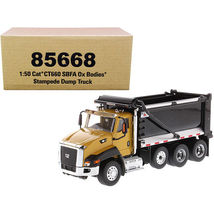 CAT Caterpillar CT660 SBFA with Ox Bodies Stampede Dump Truck Yellow and Black  - $105.73