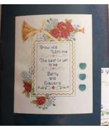 JCA Grow Old With Me Cross Stitch Kit Anna Croteau Wedding Marriage 8x10... - $11.75
