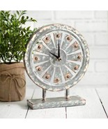 Farmhouse new WINDMILL Clock in Distressed Tin - $39.99