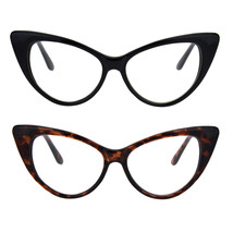 Classic Womens Gothic Clear Lens Cat Eye Glasses - $9.95