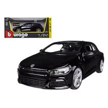 Volkswagen Scirocco R Black 1/24 Diecast Car Model by Bburago 21060bk - $29.92
