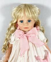 Beautiful Susan Wakeen Julie Doll Vinyl Blue Eyes Blonde Ringlets 1990 L... - $46.71