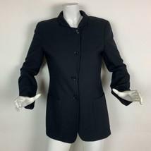 Giorgio Armani Blazer Wool Black Career Women Size 8 44 - $90.00