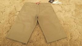 Dickies Girl's Shorts Stretch Fabric Khaki Uniform Pants Size 1 30x13 - $12.82