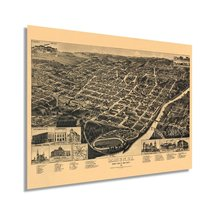 1887 Macon Georgia Map - Vintage Macon GA Wall Art Poster - Old Macon Ge... - $34.99+