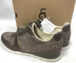 Ugg Australia Deaven Mouse Gold Suede Lace Up Shoes Tennis Sneakers 1019655 image 7
