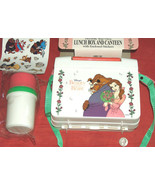 Beauty And The Beast Genin Trudeau Lunch Box Set w/ Canteen, Stickers, B... - $49.48