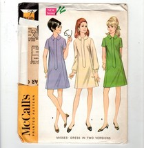 Vtg 1968 McCalls Pattern 9183 Mod Office Gogo Dress Concealed Front Zipp... - $10.40