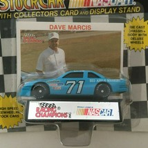 Racing Champions Dave Marcis #71 Nascar Stock Car Toy Blue w/ Display Stand 1991 - $4.26