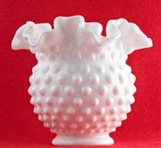 Hobnail Milk Glass Vase - $9.00