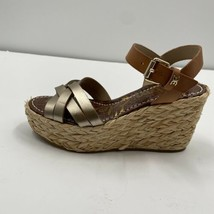 Sam Edelman Darline Platform Wedge Sandal, Gold/Buff, Women Size 7  - $29.39