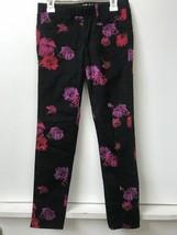 GapKids 1969  Black Rose Floral Print Legging Jeans Size 10 Girls - $14.95